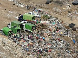 A typical scene in the Guatemala City dump