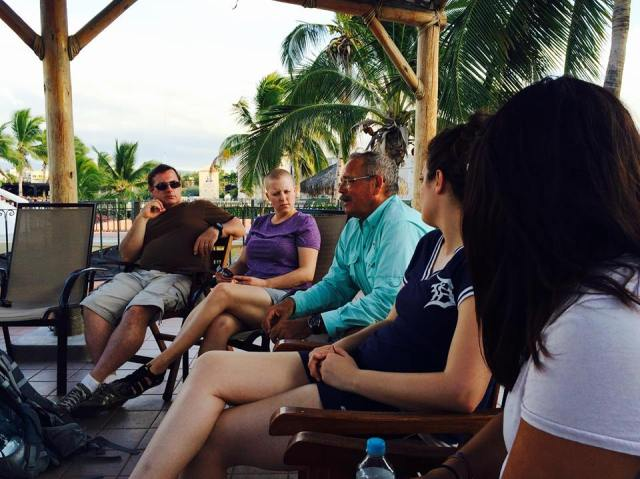 Steve in a debrief with TEAM's missions coaches talking about culture, kayaking and the beauty of the Bride of Christ