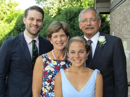 A family photo taken during a wedding I officiated this summer